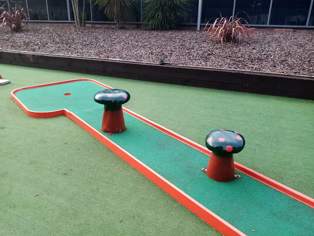 Mini Golf at Haven's Wild Duck Holiday Park in Great Yarmouth, Norfolk. Photo by Sophia Moles, October 2021