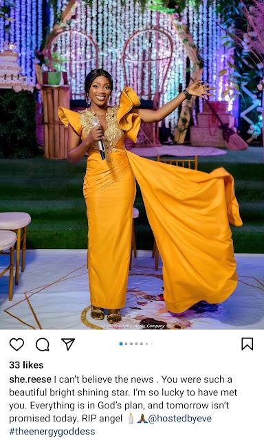 Popular TV Host, Evelyn Adewunmi dies in a car crash