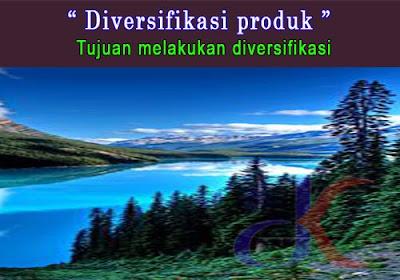Diversifikasi produk   Tujuan melakukan diversifikasi
