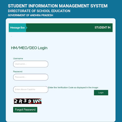 New Student Online Registration Form in Child Info SIMS 2021-22