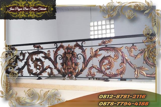 Railing Balkon Besi Tempa Klasik Mewah Berkualitas