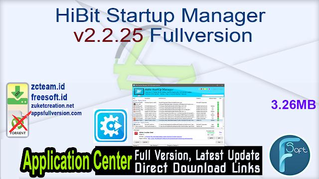 HiBit Startup Manager v2.2.25 Fullversion