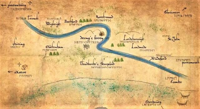 mapa Las Tinieblas y el Alba Ken Follet