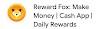 Rewards Fox Free Paytm and Google Play Redeem Codes