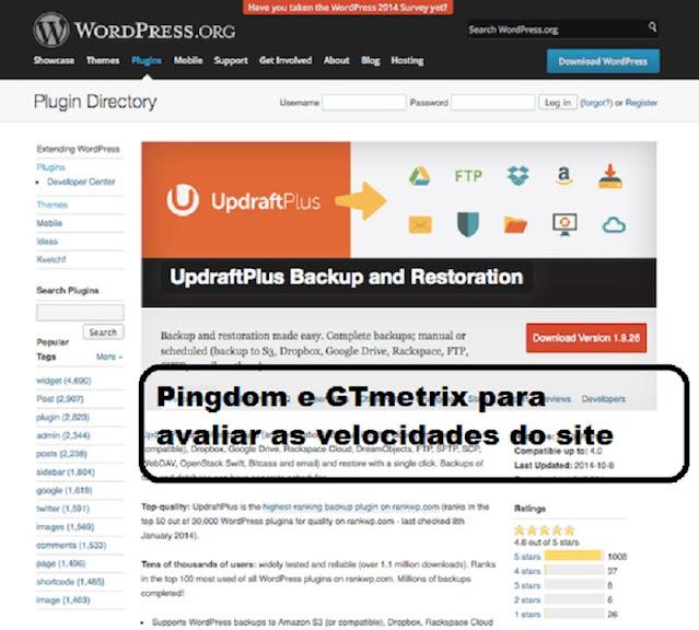 Pingdom e GTmetrix para avaliar as velocidades do site