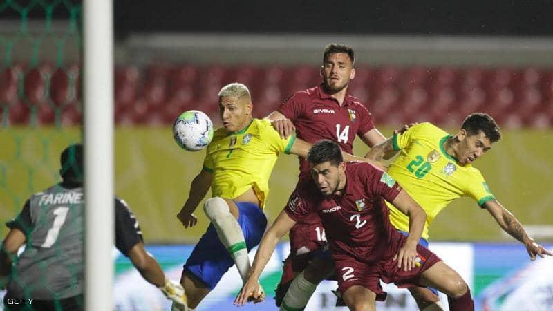 موعد مباراة البرازيل وفنزويلا في تصفيات كأس العالم