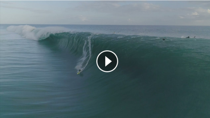 Drone action at Teahupoo August 13th 2021 with Matahi Drollet s biggest wave in Tahiti - trailer