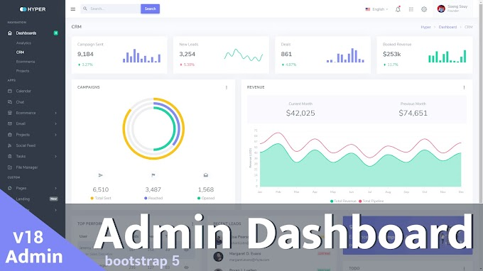 Dashboard Admin HTML CSS JS  Free download