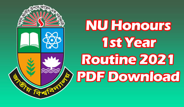 NU Honours 1st Year Routine 2021 PDF Download