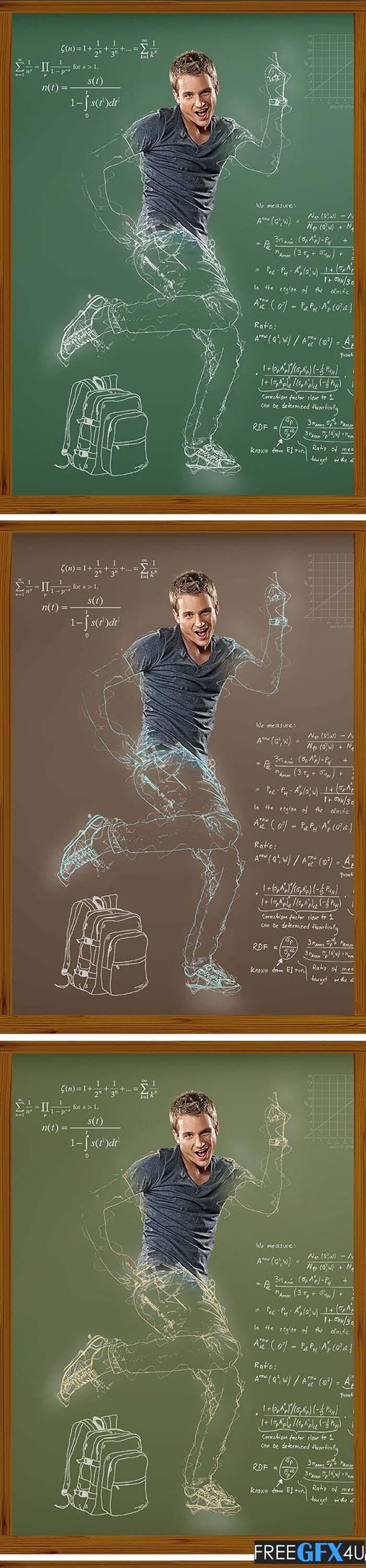 Chalk Photoshop Action