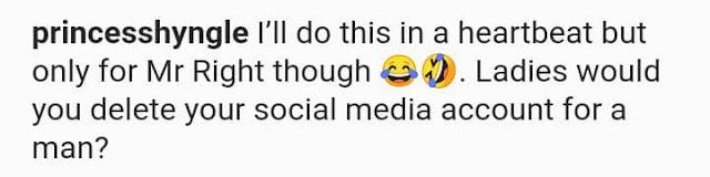 If i meet MR Right man, I am ready to delete my social media account to make him happy- Actress Princess Shyngle reveals
