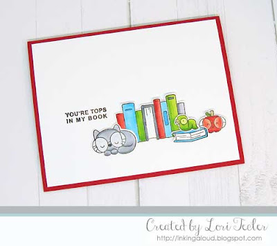 Tops in My Book card-designed by Lori Tecler/Inking Aloud-stamps from Mama Elephant