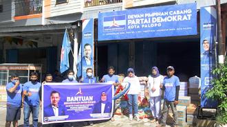 DPC Partai Demokrat Palopo Salurkan Bantuan Bencana Buat Sulselbar