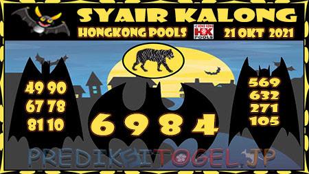 Syair Kalong HK Malam ini 21-10-2021