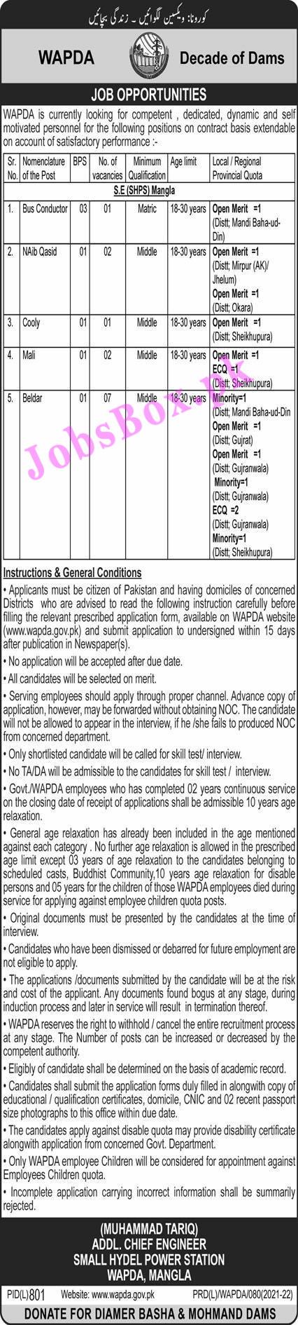 Wapda Jobs 2021