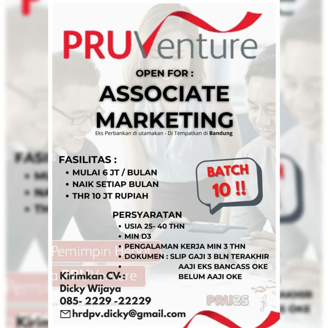 Lowongan Kerja Pru Venture Bandung Oktober 2021
