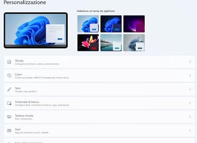 Personalizza Windows