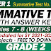 GRADE 2 UPDATED SUMMATIVE TESTS NO. 4 for SY 2021-2022 (Q1: Weeks 7-8) With Answer Keys