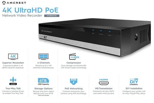 Amcrest NV2104E 1080p POE NVR Network Video Recorder
