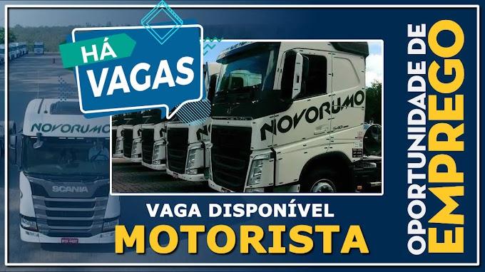 Transportadora Novo Rumo abre vagas para motorista carreteiro