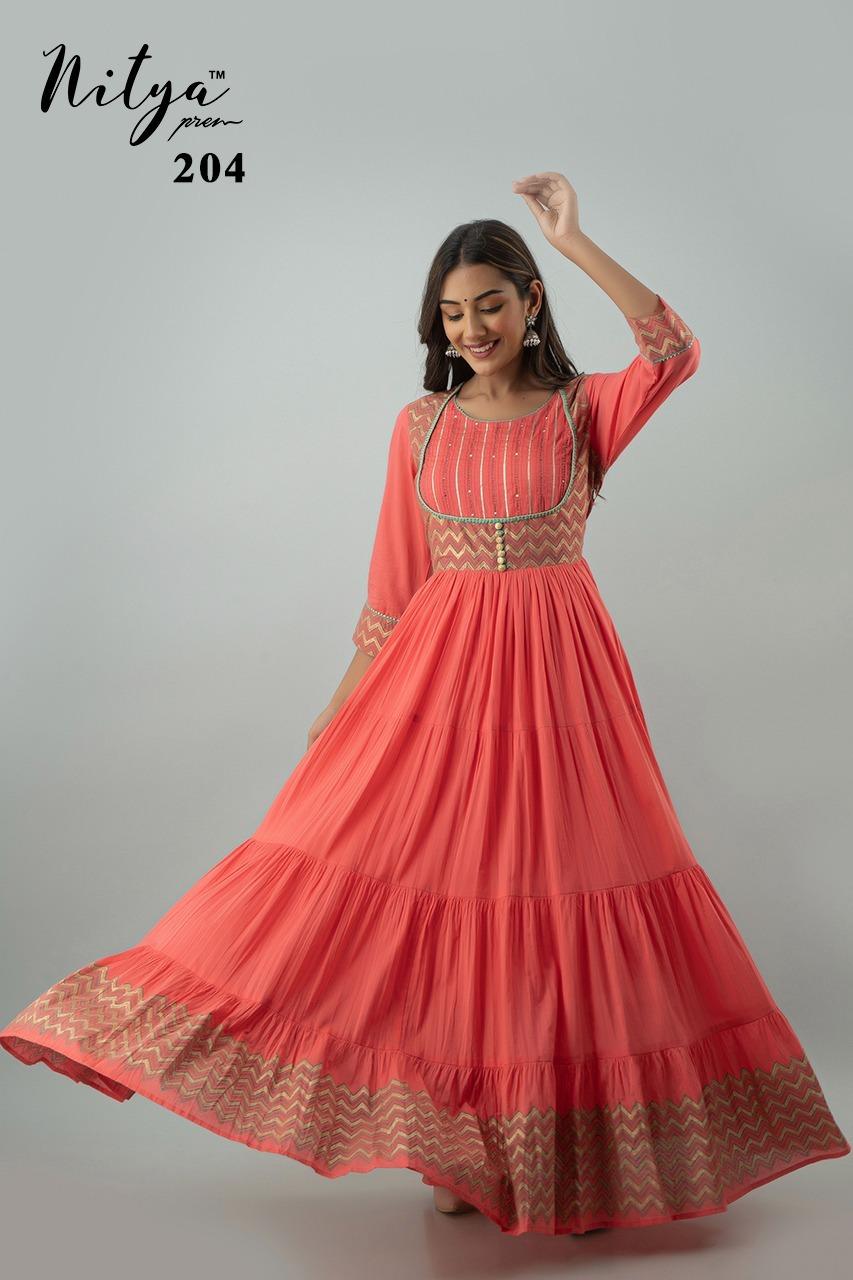 Lt Nitya Design No 204 Size Set One Piece Gown Catalog Lowest Price