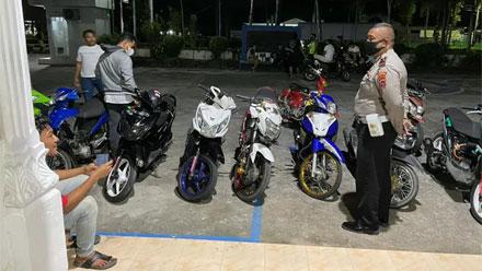 Polres Agam Amankan Belasan Sepeda Motor Knalpot Racing