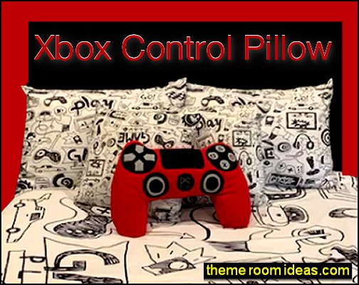 Xbox Control Pillow gamers bedroom pillows gaming room decor