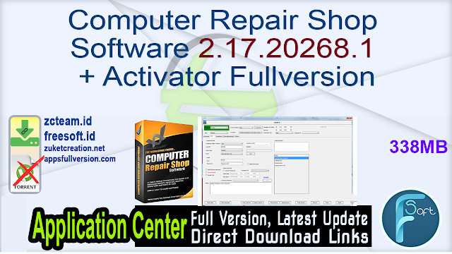 Computer Repair Shop Software 2.17.20268.1 + Activator Fullversion