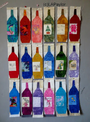 fabric wine bottles