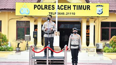 Kapolres Aceh Timur Pimpin Upacara Serahterima Jabatan Kabagren, Kasat Lantas dan Kapolsek