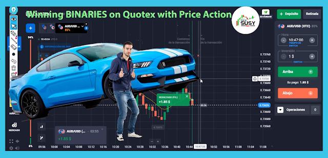 BINARIAS ganadores en Quoex con Price Action