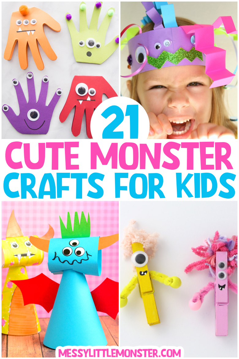 Cute Monster Crafts for Kids