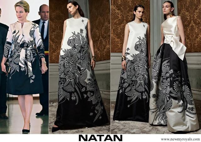 Queen Mathilde wore NATAN FW 2021 Collection dress