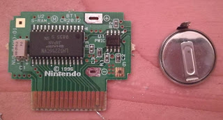 Battery removed from the controller PAK