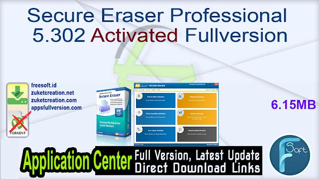 Secure Eraser Professional 5.302 Activated Fullversion