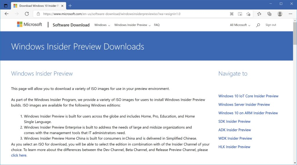 Windows 11 Insider Preview