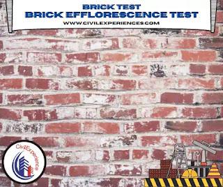 Efflorescence Test for Brick   Test on Brick