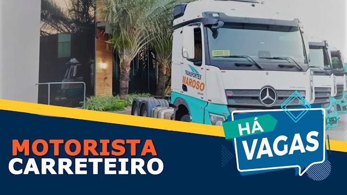 Transportes Maroso abre vagas para motorista carreteiro
