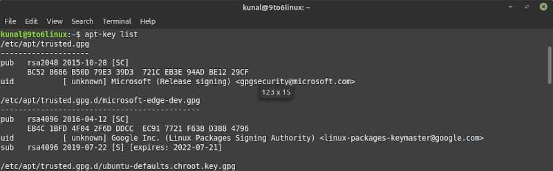 How to verify that a public key [PUBKEY] added to your Linux system