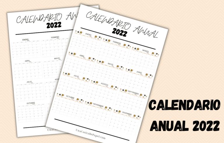 Calendario anual 2022