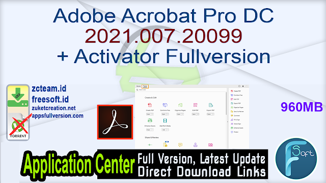 Adobe Acrobat Pro DC 2021.007.20099 + Activator Fullversion