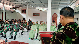 Tingkatkan Iman Dan Taqwa Prajurit, PNS Serta Persit Kodim 0701/Banyumas Terima Penyuluhan Bintal