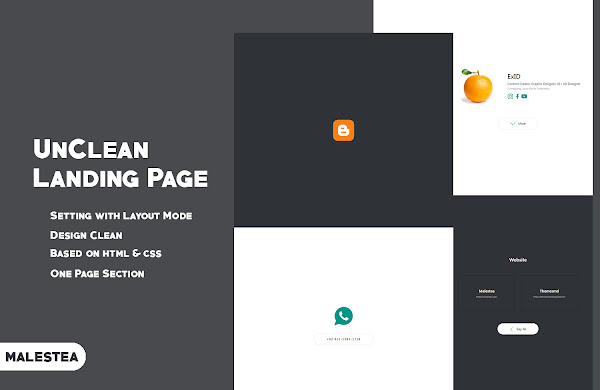 UnClean Landing Page - Blogger Template