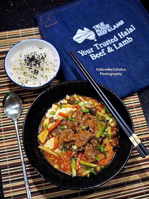 RECIPE: SUNDUBU-JJIGAE Spicy Soft Tofu Stew With HALAL Australian Beef Shabu-Shabu