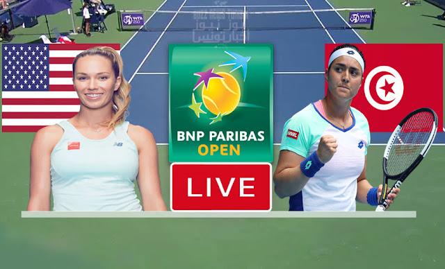 بث مباشر   مشاهدة مباراة أنس جابر و دانيال كولينز في بطولة انديان ويلز للتنس  - match tennis ons jabeur live
