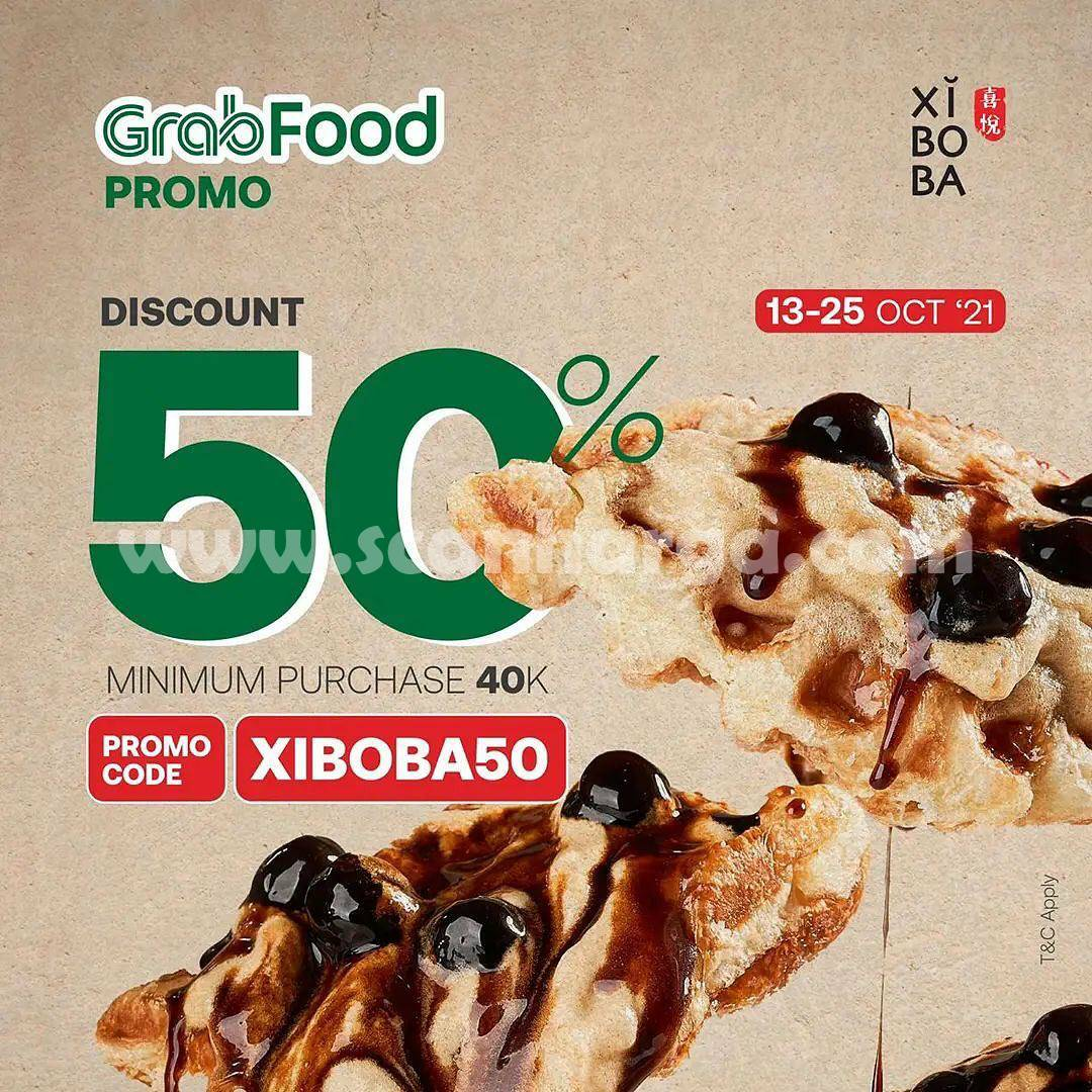 Promo Xiboba 13 - 25 Oktober 2021, Diskon Grabfood hingga 50%