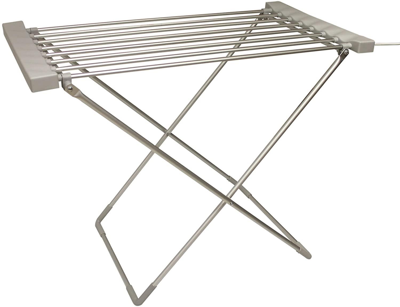 Tendedero portátil y plegable calefactable
