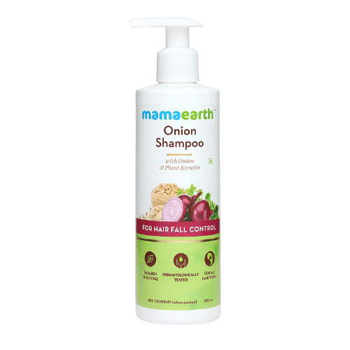 Mamaearth Onion Hair Fall Shampoo | Shampoo For Hair Fall Control And Hair Growth