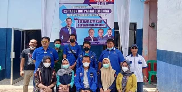 Dengan Bhakti Sosial DPC Demokrat Kembali Gelar  Suntik Vaksin Tahap Ke-II di Tiga Desa Kecamatan Tanjung Raja