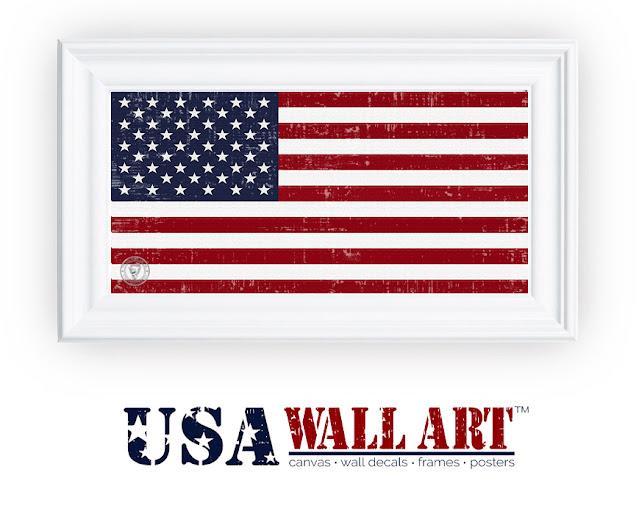 US Flag Framed